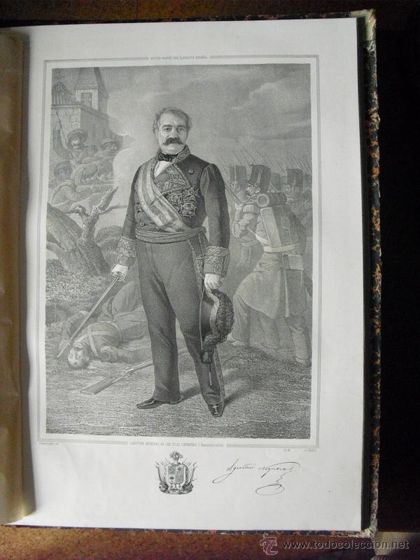 1852 BIOGRAFIA DEL TENIENTE GENERAL DON AGUSTIN NOGUERAS 42X31 CMS (Libros Antiguos, Raros y Curiosos - Biografías )