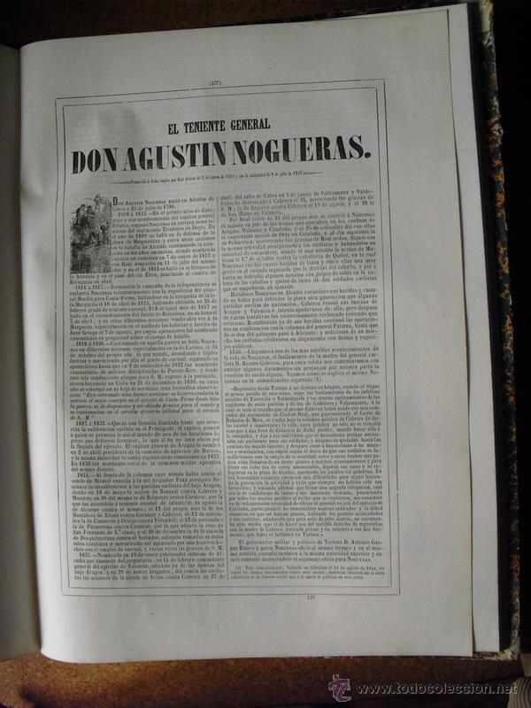 Libros antiguos: 1852 BIOGRAFIA DEL TENIENTE GENERAL DON AGUSTIN NOGUERAS 42X31 CMS - Foto 2 - 44106477
