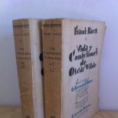 Libros antiguos: VIDA Y CONFESIONES DE ÓSCAR WILDE. FRANK HARRIS. TOMOS I Y II. BIBLIOTECA NUEVA. AÑO 1928.. Lote 45816780
