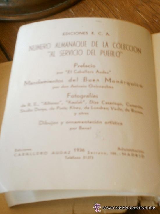 Libros antiguos: INTERESANTE ALMANAQUE DE BOLSILLO CON LA BIOGRAFIA EN FOTOGRAFIAS DEL REY ALFONSO XIII. - Foto 3 - 50041078