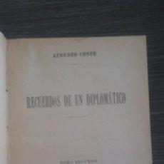 Livros antigos: RECUERDOS DE UN DIPLOMATICO AUGUSTO CONTE TOMO 2 1901. Lote 50288837