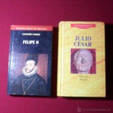 Libros antiguos: BIOGRAFÍAS DE JULIO CÉSAR Y DE FELIPE II. Lote 51332088