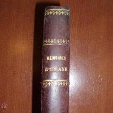 Libros antiguos: MEMOIRES D'UN ANE. ILUSTRACIONES CASTELLI. M. HENRI DE SÉGUR.. Lote 53026279