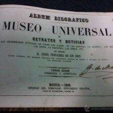 Libros antiguos: ALBUM BIOGRAFICO. MUSEO UNIVERSAL DE RETRATOS Y NOTICIAS. 1849. GRABADOS .. Lote 53242568