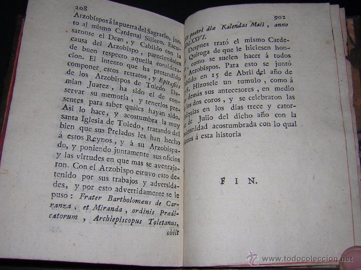 Libros antiguos: 1788 - SALAZAR DE MIRANDA - VIDA DE DON BARTOLOMÉ DE CARRANZA Y MIRANDA, ARZOBISPO DE TOLEDO - Foto 6 - 53750034