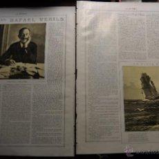 Libros antiguos: HOMBRES QUE VALEN: RAFAEL VEHILS 2 PAGINAS DE RESEÑA ENTREVISTA EN LA ESFERA 1916. Lote 55004726