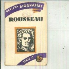 Livres anciens: JUAN JACOBO ROUSSEAU. PEDRO LUIS DE GÁLVEZ. Lote 55185252