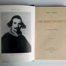 Libros antiguos: OCTAVIO PICÓN: VIDA Y OBRAS DE DON DIEGO VELÁZQUEZ (1899). Lote 57093360