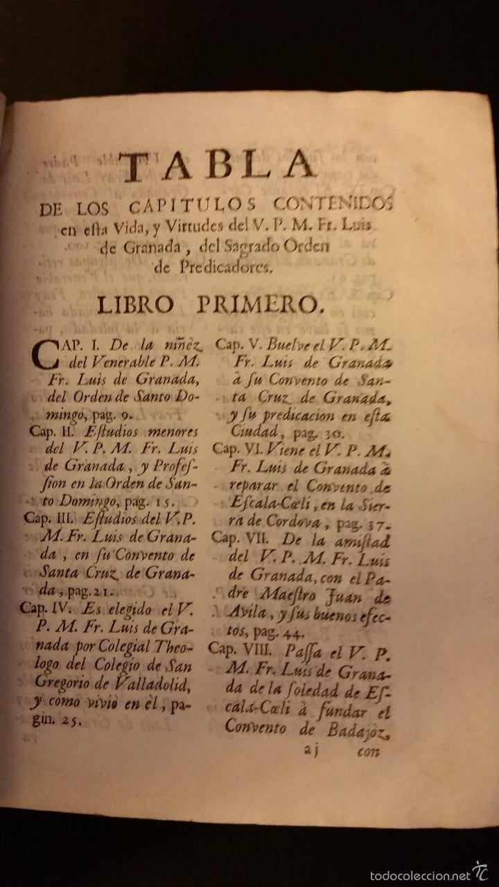 Libros antiguos: 1756 - LUIS MUÑOZ - VIDA Y VIRTUDES DE FRAY LUIS DE GRANADA - Foto 3 - 57192433