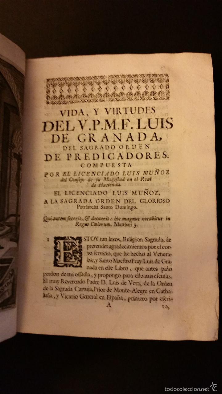 Libros antiguos: 1756 - LUIS MUÑOZ - VIDA Y VIRTUDES DE FRAY LUIS DE GRANADA - Foto 5 - 57192433