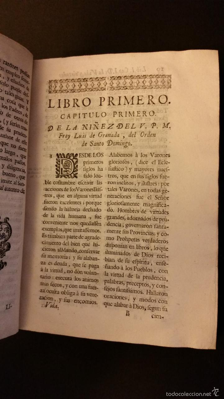 Libros antiguos: 1756 - LUIS MUÑOZ - VIDA Y VIRTUDES DE FRAY LUIS DE GRANADA - Foto 6 - 57192433