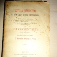 Libros antiguos: 1896 - SEVILLA INTELECTUAL. SUS ESCRITORES Y ARTISTAS CONTEMPORÁNEOS - JOSÉ CASCALES MUÑOZ. Lote 40829537