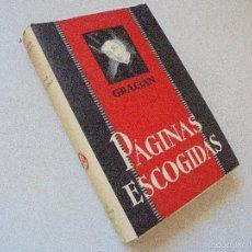 Libros antiguos: COLECCIÓN MERGES,ANTOLOGÍAS DE CLÁSICOS ESPAÑOLES-BALTASAR GRACIÁN-PÁGINAS ESCOGIDAS-1ª.E.JUNIO 1932. Lote 58394906