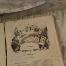 Libros antiguos: VIDA Y VIAJES DE CRISTÓBAL COLÓN 1851. Lote 58526018