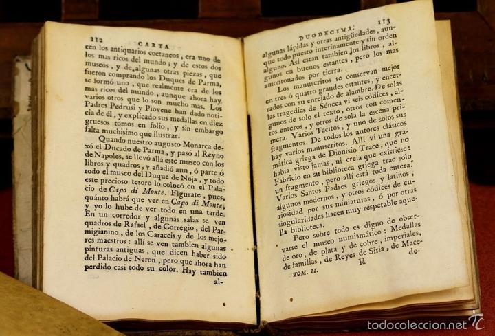 Libros antiguos: LP-293 - CARTAS FAMILIARES DEL ABATE J. ANDRÉS A SU HERMANO C. ANDRÉS. TOMO II. 1786. - Foto 6 - 60771807