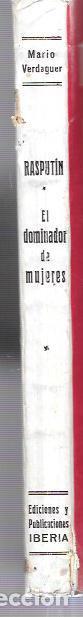 Libros antiguos: RASPUTÍN. MARIO VERDAGUER. EL DOMINADOR DE MUJERES. ED. IBERIA. BARCELONA. 1930. - Foto 2 - 61931076