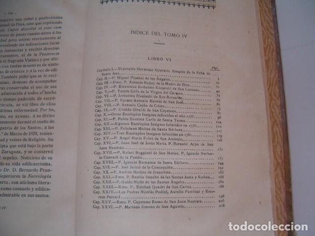 Libros antiguos: Escolapios Insignes. Tomo IV. RM77166. - Foto 2 - 63308328