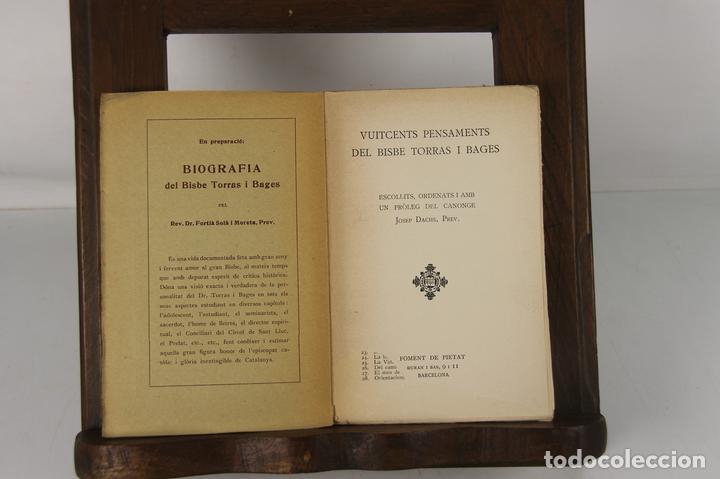 5132- EDIT. FOMENT DE PIETAT. 2 TITULOS DEL DOCTOR I BISBE TORRES I BAGES. 1928/1932. (Libros Antiguos, Raros y Curiosos - Biografías )