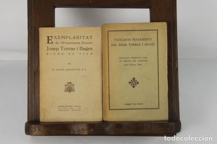 Libros antiguos: 5132- EDIT. FOMENT DE PIETAT. 2 TITULOS DEL DOCTOR I BISBE TORRES I BAGES. 1928/1932. - Foto 4 - 45198201