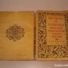Libros antiguos: ESTEBANILLO GONZÁLEZ. VIDA Y HECHOS DE ESTABANILLO GONZÁLEZ. RM77266. . Lote 64766007
