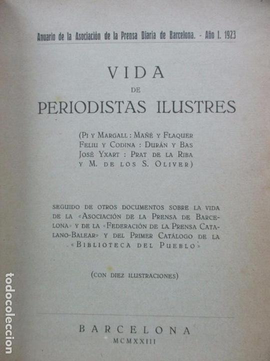 Libros antiguos: VIDA DE PERIODISTAS ILUSTRES. 1923. - Foto 2 - 65873322
