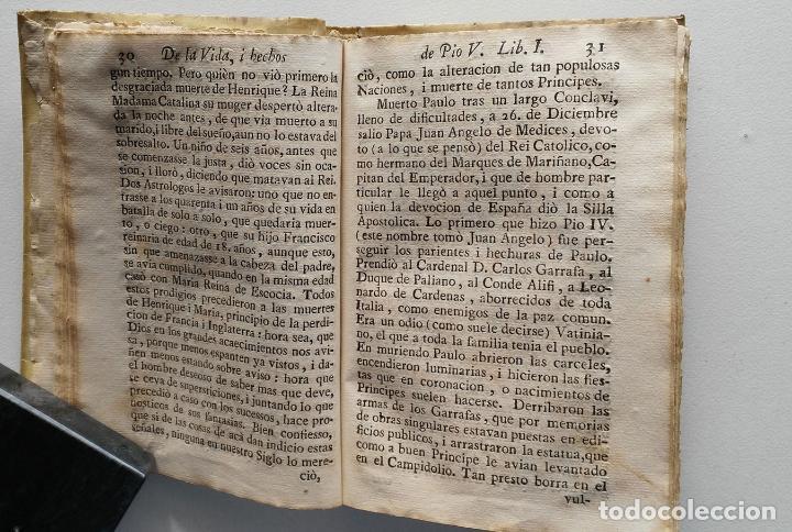 Libros antiguos: VIDA Y HECHOS DE SAN PIO V PONTÍFICE ROMANO POR DON ANTONIO DE FUENMAYOR - 1773 - Foto 3 - 67282825