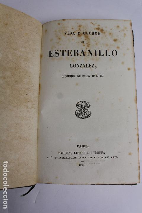 L-4237. VIDA Y HECHOS DE ESTEBANILLO GONZALEZ, 1847. (Libros Antiguos, Raros y Curiosos - Biografías )