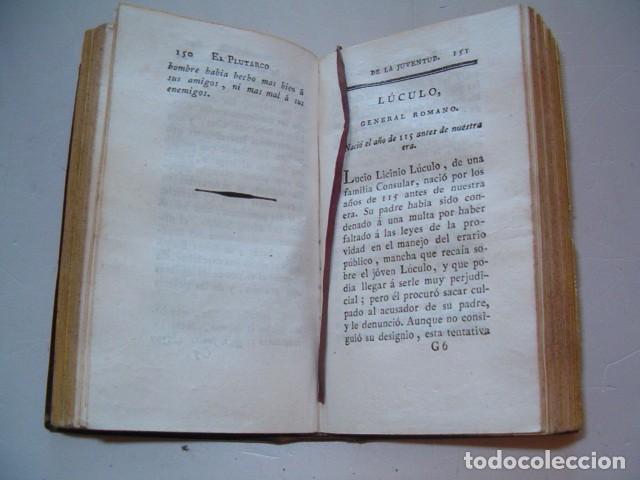 Libros antiguos: PIERRE BLANCHARD. Plutarco de la Juventud en Castellano. Tomos II, III y VII. TRES TOMOS. RM77770. - Foto 5 - 68888989
