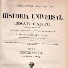 Libros antiguos: CÉSAR CANTÚ : HISTORIA UNIVERSAL TOMO X (BIOGRAFÍAS) CON 14 GRABADOS AL ACERO (GASPAR Y ROIG, 1878). Lote 75606703