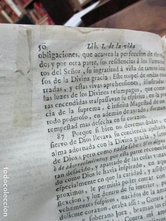 Libros antiguos: EL SOLITARIO EN POBLADO. VIDA DEL VULNERABLE, E ILUSTRE DOCTOR ANTONIO PABLO CENTENA. 1744. - Foto 7 - 82331684