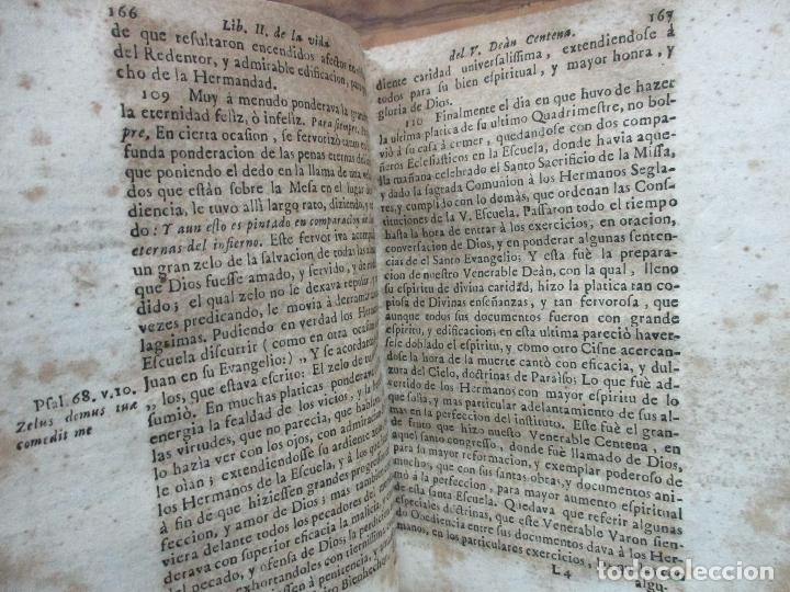 Libros antiguos: EL SOLITARIO EN POBLADO. VIDA DEL VULNERABLE, E ILUSTRE DOCTOR ANTONIO PABLO CENTENA. 1744. - Foto 10 - 82331684