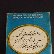 Libros antiguos: EPISTOLARIO Y TEXTOS BIOGRÁFICOS. JOSÉ ANTONIO ÍNTIMO. Lote 83619008