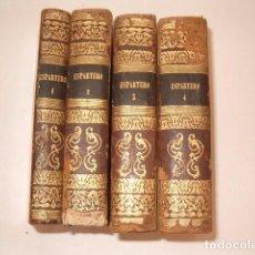 Libros antiguos: D. JOSÉ SEGUNDO FLOREZ (DIR.). ESPARTERO. CUATRO TOMOS. RM80633. . Lote 86404996