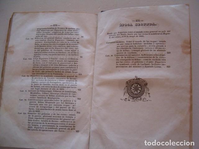 Libros antiguos: D. JOSÉ SEGUNDO FLOREZ (DIR.). Espartero. CUATRO TOMOS. RM80633. - Foto 4 - 86404996