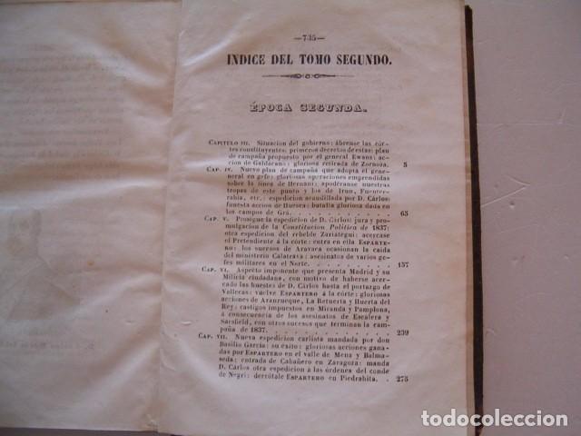 Libros antiguos: D. JOSÉ SEGUNDO FLOREZ (DIR.). Espartero. CUATRO TOMOS. RM80633. - Foto 5 - 86404996