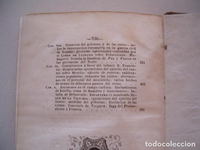 Libros antiguos: D. JOSÉ SEGUNDO FLOREZ (DIR.). Espartero. CUATRO TOMOS. RM80633. - Foto 6 - 86404996