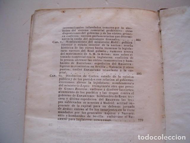 Libros antiguos: D. JOSÉ SEGUNDO FLOREZ (DIR.). Espartero. CUATRO TOMOS. RM80633. - Foto 10 - 86404996
