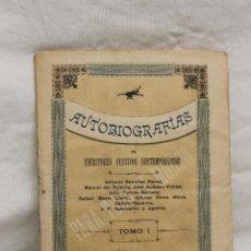 Libros antiguos: AUTOBIOGRAFIAS DE ESCRITORES FESTIVOS CONTEMPORANEOS, TOMO 1, VALENCIA, 1890. Lote 88851432
