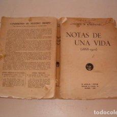 Libros antiguos: CONDE DE ROMANONES. NOTAS DE UNA VIDA. (1868 – 1901). RMT81239. . Lote 88855492