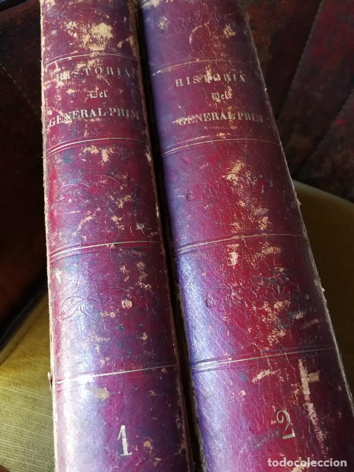 HISTORIA DEL GENERAL PRIM. TOMOS I Y II- DON FRANCISCO J. ORELLANA, 1871.COMPLETO. (Libros Antiguos, Raros y Curiosos - Biografías )