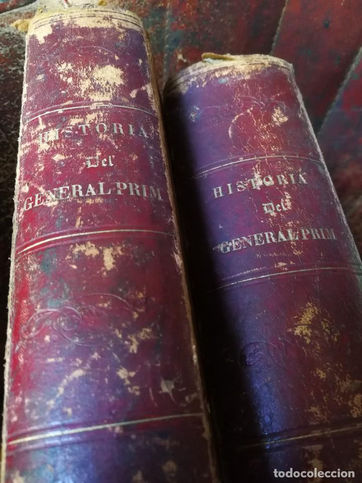 Libros antiguos: HISTORIA DEL GENERAL PRIM. TOMOS I Y II- DON FRANCISCO J. ORELLANA, 1871.COMPLETO. - Foto 2 - 89803352