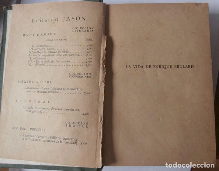 Libros antiguos: LA VIDA DE ENRIQUE BRULARD. STENDHAL. PRIMERA EDICIÓN - Foto 3 - 95456499