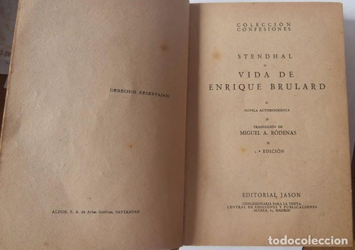 Libros antiguos: LA VIDA DE ENRIQUE BRULARD. STENDHAL. PRIMERA EDICIÓN - Foto 4 - 95456499