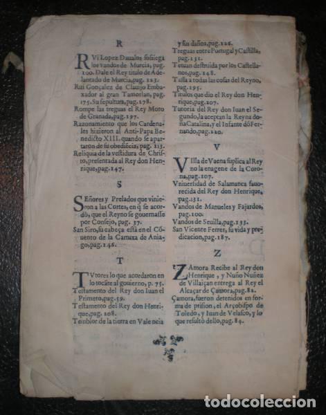 Libros antiguos: GONZALEZ DAVILA, GIL: HISTORIA DE LA VIDA Y HECHOS DEL REY DON HENRIQUE TERCERO DE CASTILLA. 1638 - Foto 4 - 95486327