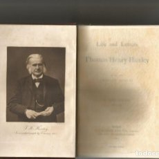 Libros antiguos: LIFE AND LETTERS OF THOMAS HENRY HUXLEY. BY HIS SON LEONAR HUXLEY, . (3 VOLS). MACMILLAN AND C,1903. Lote 96392359