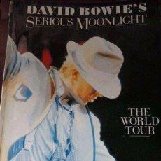 Libros antiguos: LIBRO DAVID BOWIE S SERIOUS MOONLIGHT 1984. Lote 96637375