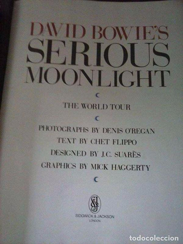 Libros antiguos: Libro David Bowie S Serious Moonlight 1984 - Foto 2 - 96637375