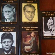 Libros antiguos: LOTE DE 5 GRANDES BIOGRAFIAS LORCA/MOZART/GANDHI/CURIE/KENNED. Lote 98632451