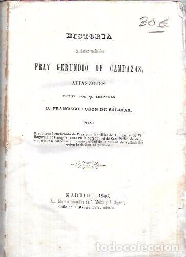 Libros antiguos: HISTORIA DEL FAMOSO PREDICADOR FRAY GERUNDIO DE CAMPAZAS. TOMO I. FRANCISCO LOBÓN DE SALAZAR. 1846. - Foto 2 - 98917283
