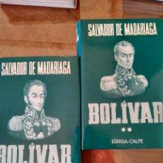 Libros antiguos: BOLIVAR. VOLUMEN I Y II.-EDITORIAL ESPASA CALPE. Lote 100440835